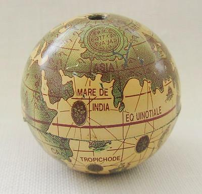 An Old Miniature 1 Inch Tin Globe No Stand
