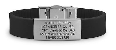 Custom Engraved - Road ID ® Slim 2 Wrist ID Bracelet - Identification Bracelet