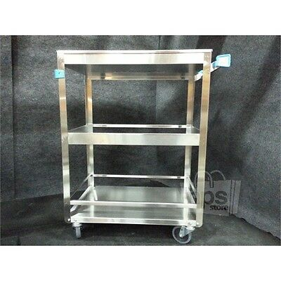 "Lakeside 316 Guard Rail Utility Cart, Stainless Steel, 16 1/4""x27 1/2""x33 3/8""*"