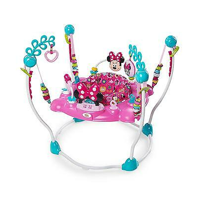 Baby Activity Jumper Disney Minnie Mouse Peek A Boo Girls Pink Teal Blue Toy NEW