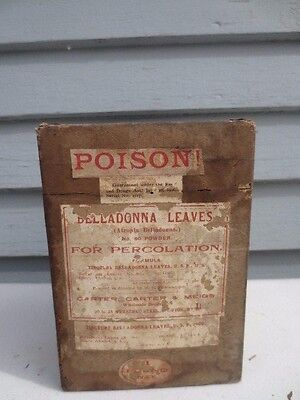 Beladonna Leaves Box Label & Contents Poison