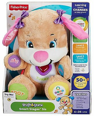 Fisher Price Toy Smart Stages Sis Girl Puppy Laugh & Learn With Sounds Light NEW
