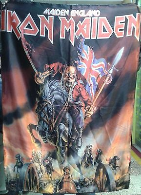 IRON MAIDEN Maiden England FLAG CLOTH POSTER WALL TAPESTRY BANNER CD Heavy Metal