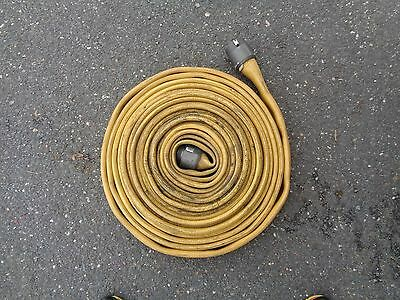 Fire Hose Water Supply Yellow Fire Hose With Couplers Length 50ft
