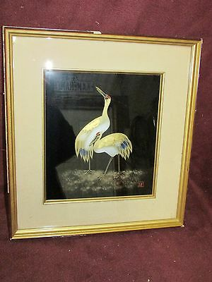 Vintage Japanese Antique Style Lacquer Panel Showa  Period Signed