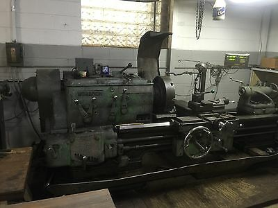 "Monarch Lathe Geared Head Engine Lathe 24"" x 48"" 2 1/4"" hole thru spindle"