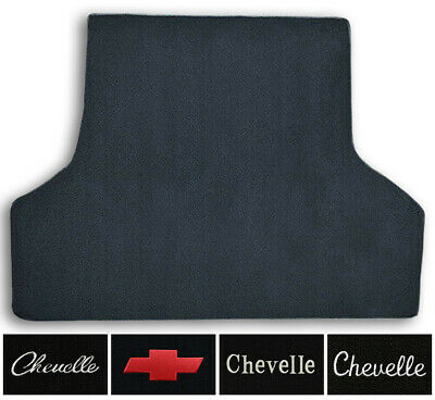 1966-1967 Chevrolet Chevelle Loop Carpet Logo Trunk Mat with Pad 1pc