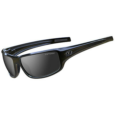 Tifosi Bronx Sunglasses  Gloss Black, Smoke Lens [1260400270]