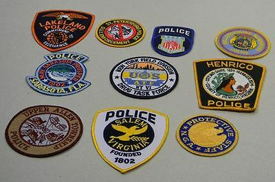 Police Law Enforcement Patches Lot of 10 Lake Land Bag #19