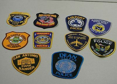 Police Law Enforcement Patches Lot of 10 Green Bay Bag #11