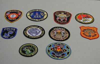 Police Law Enforcement Patches Lot of 10 Franklin Bag #21