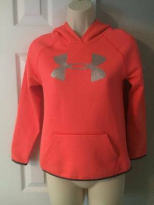Under Armour Coral Hooded Sweatshirt Girls EUC Size 10-12