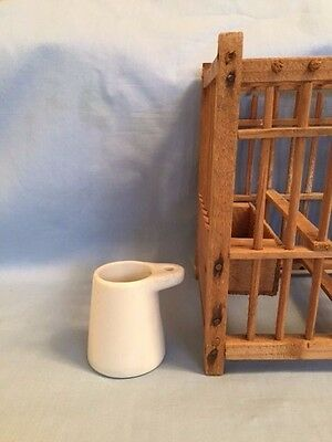 RARE Vintage Water Dish for Miners Canary Cage, UNUSED, bird mining blasting
