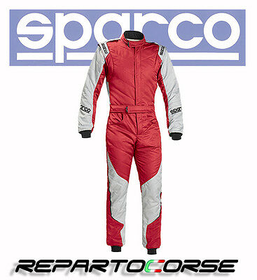 Tuta Racing Sparco Energy Rs-5 Rosso-Silver - Fia  8856-2000 - 0011273