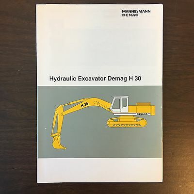DEMAG H30 Hydraulic Excavator - Mining Shovel Equipment Vintage Brochure 20p