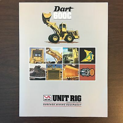 UNIT RIG LECTRA HAUL MT-3700 Dump Truck - Vintage Equipment Brochure Specs 1992