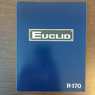 EUCLID R-170  Vintage Truck Rear Dump Haul Equipment Brochure Photos 1979