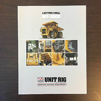UNIT RIG LECTRA HAUL MT-3600 Dump Truck - Vintage Equipment Brochure Specs 1990
