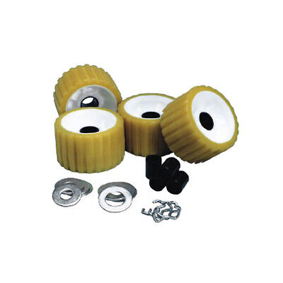 C.E. Smith Ribbed Roller Replacement Kit - 4 Pack - Gold [29310]
