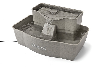 Multi-Tier Pet Fountain Holds 100 oz of Water, Electric, Dogs, Cats, Drink, Well