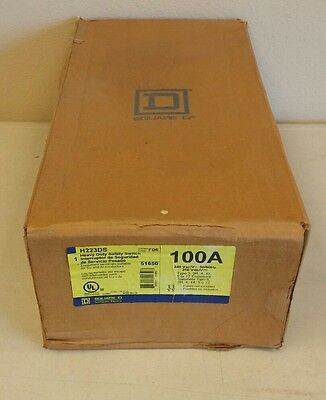 *NEW IN BOX* Square D STAINLESS H223DS 100a 240v 2 pole Fused Safety Switch