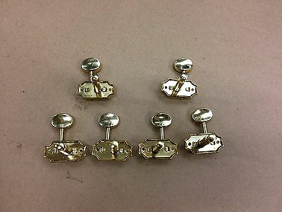 Wilkinson 3 a side Button Guitar Tuners, Machine Heads, Tuning Pegs, Gold 8mm