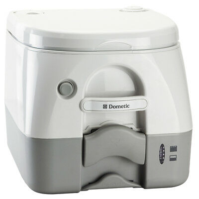 Dometic - SeaLand 974 Portable Toilet 2.6 Gallon - Grey w/Brackets [301097406]
