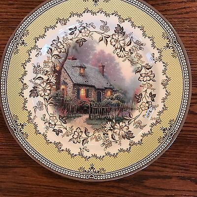 "Thomas Kindade inspired home cottage Spode 2005 10"" plate"