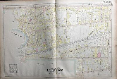 1896 Lawrence, Massachusetts Bellevue Cemetery Broadway To Forest St Atlas Map
