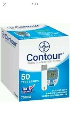 Contour Blood Glucose Test Strips a pack of 50 strips (New&Sealed) 3/2018