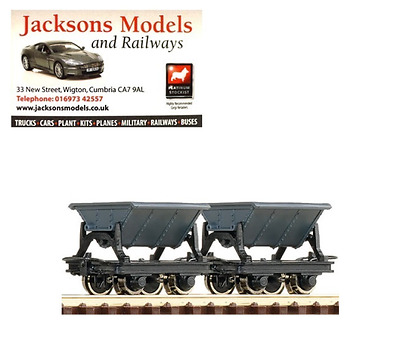 Roco 34600 Side Tipping Hopper Wagons (Pack of 2) HOe Gauge