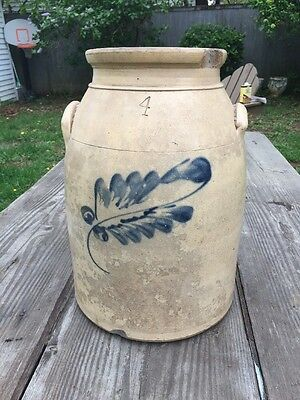 Antique 4 Gallon Cobalt Crock Jug
