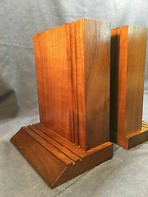 Classic Solid Black Walnut Bookends - High Quality - Made in USA by Decantur Ind