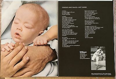 Wilson 1969 Magazine vintage Ad - 2 pages- Adds on back too!