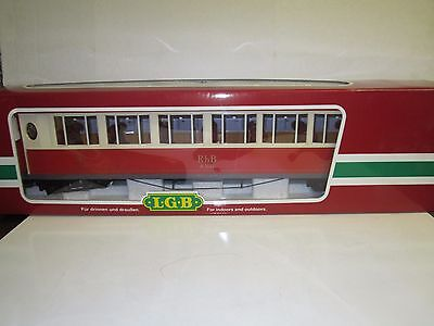 LGB G #30650 RhB Salon Passenger Car - Lighted with Interior
