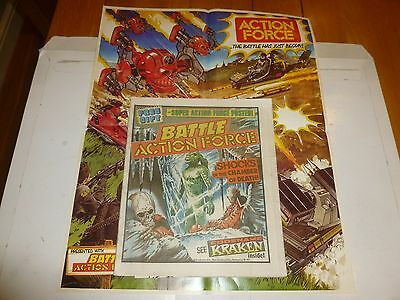 BATTLE ACTION FORCE Comic - Date 27/10/1984 - UK Paper Comic (Inc Free Gift)