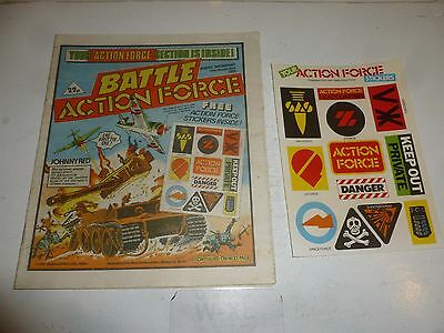 BATTLE ACTION FORCE Comic - Date 10/11/1984 - UK Paper Comic (Inc Free Gift)
