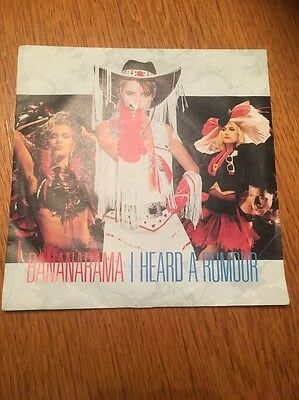 "BANANARAMA - I heard a rumour -  7"" Single  EX Con"