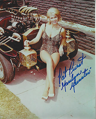 The Munsters Beautiful  Marilyn Pat Priest  autographed 8x10 sexy color  photo