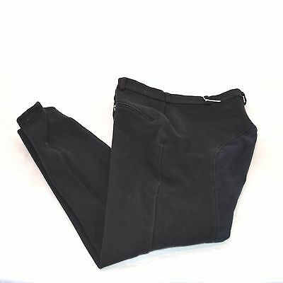 Used Tuff Rider Men's Full Seat Breeches - Black - Sz Men's 34 #77557