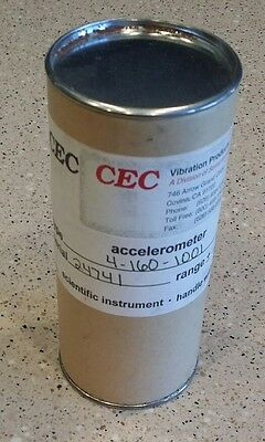 **NEW, FACTORY SEALED** CEC Vibration Accelerometer 4-160-1001 Vibration Meter