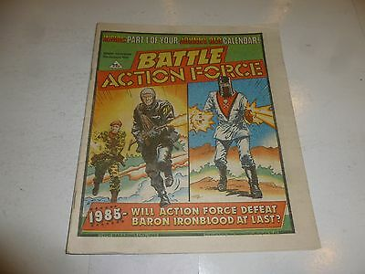 BATTLE ACTION FORCE Comic - Date 05/01/1985 - UK Paper Comic (inc Calender Page)