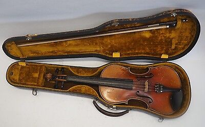 ANTIQUE VIOLIN by HENRI FARNY & CIE - PARIS w/ BOW AND CASE
