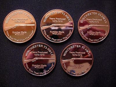 1 Ounce .999 Copper Round Winchester 73 Rifle (5 Coins)