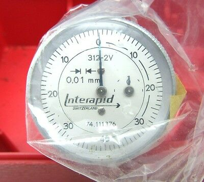 NEW! INTERAPID 312-2V VERTICAL TEST INDICATOR ONLY GRADUATION .01mm RANGE 1.6mm