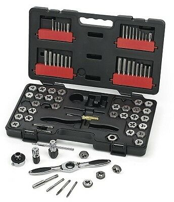 GearWrench 3887 75 Piece Combination SAE / Metric Tap and Die Set