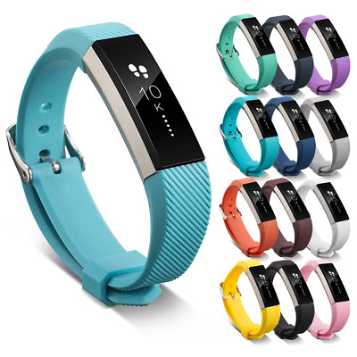 Strap Watch Bracelet Metal Buckle Soft Silicone Band For FitBit Alta & Alta HR