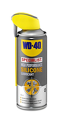 New WD40 Specialist 400ml High Performance Silicone Spray Metal Plastic Rubber