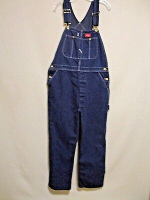 Men's DICKIES CARPENTER BIB OVERALLS Button Fly size 38 X 30 made in USA