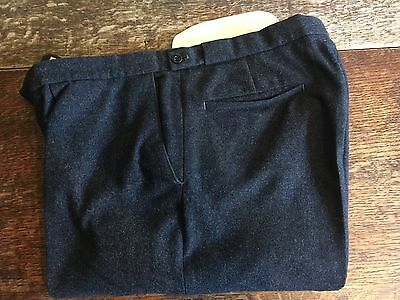 Vintage Hacket Heavy Grey Flannel Trousers Size 34